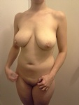 A nice full body shot of my all natural woman, one of my favorites!