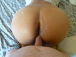 Doggy with cum on my ass