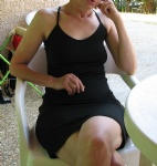 My wife on holidays, no one knew she had nothing under her dress all day lo...