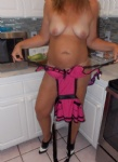 Just the MILF next door, cooking up some wet panties and playing in the kit...