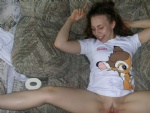 Throwback Thursday- just got fucked and cummed in a Bambi shirt
