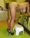 Heels posing