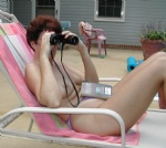 Now what could I be spying on - Oh it that's cute guy next door!!!