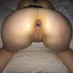 Rope with seven chinese balls into her asshole. Spanked during insertion be...