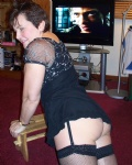 Showing her bum..