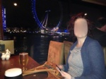 Drinks with a visiting friend before going back to her hotel. She said she ...