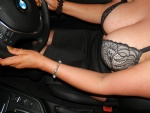 I like driving in my bra...