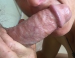 licking under max's cock