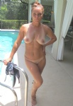 Naked at the pool!