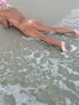 I just Love laying here by the surf....
