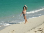 maria topless on the beach